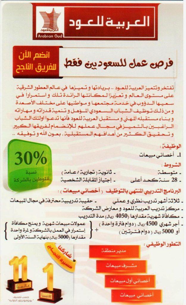 وظائف العربية للعود