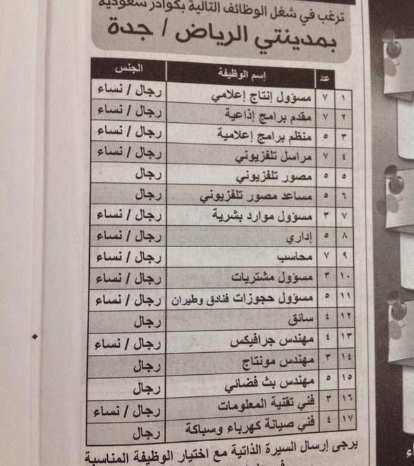 وظائف الرياض اليوم | وظائف نسائية ورجالية لكل المؤهلات في الرياض