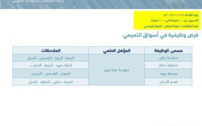 شركة اسواق التميمي وظائف نسائية في الرياض لمؤهل الكفاءة المتوسطة