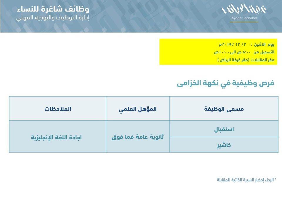 نكهة الخزامى وظائف نسائية استقبال وكاشير في الرياض
