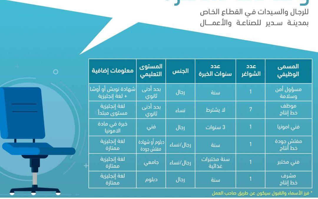 وظائف حكوميه لخريجي الثانويه العامه ب 5 الاف ريال سعودي